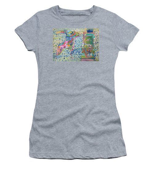 Women's T-Shirt (Junior Cut) featuring the painting From The Altered City by Fabrizio Cassetta
