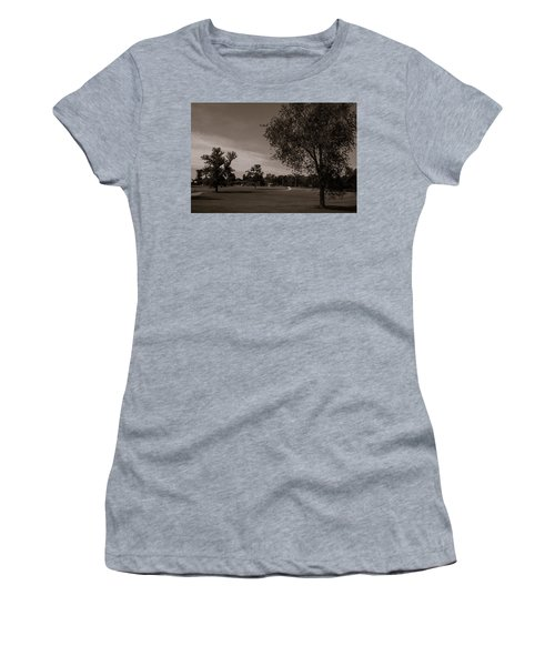 Women's T-Shirt (Athletic Fit) featuring the photograph From The Fields - The Hermitage by James L Bartlett