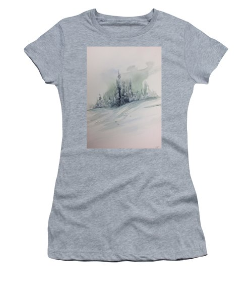 Frost On The Pines Women's T-Shirt (Athletic Fit)