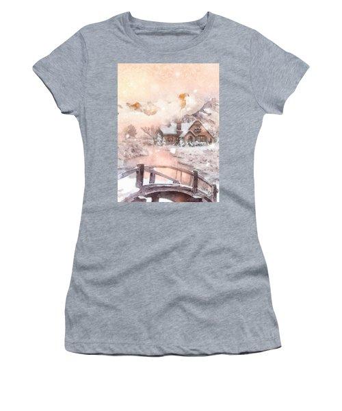 Frosty Creek Women's T-Shirt (Junior Cut) by Mo T