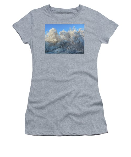 Women's T-Shirt featuring the photograph Frosty Trees by Rockin Docks Deluxephotos