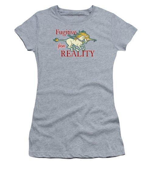 Fugitive Unicorn Women's T-Shirt (Athletic Fit)