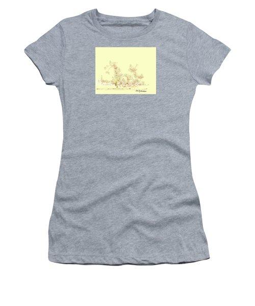 Women's T-Shirt (Junior Cut) featuring the drawing Fun by Jim Hubbard