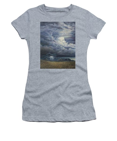Fury Over Square Butte Women's T-Shirt (Junior Cut) by Kim Lockman