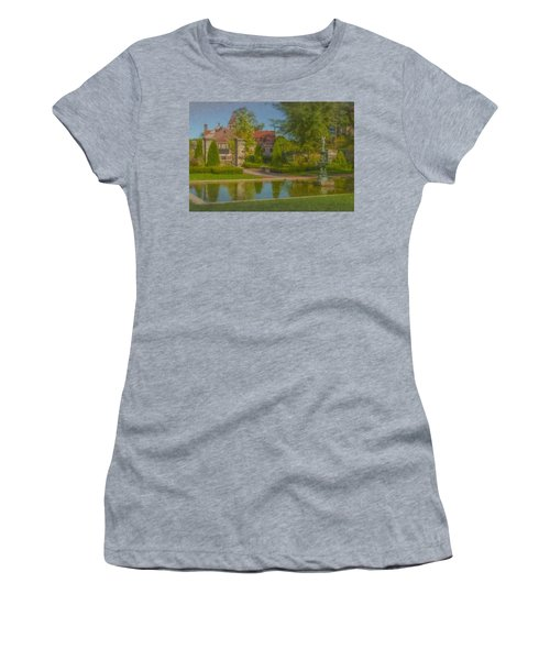 Garden Fountain At Ames Free Library Women's T-Shirt
