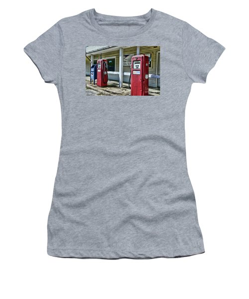 Women's T-Shirt (Junior Cut) featuring the photograph Gas And Mail 1 by Paul Ward