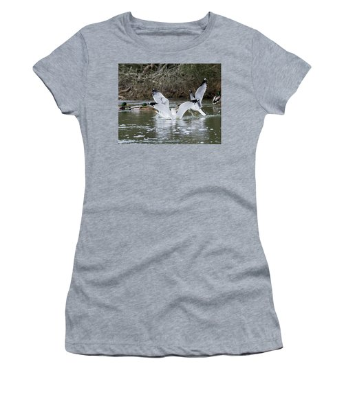 Gathering Of Egrets Women's T-Shirt (Junior Cut) by George Randy Bass