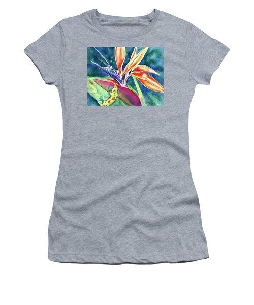 Gecko On Bird Of Paradise Women's T-Shirt