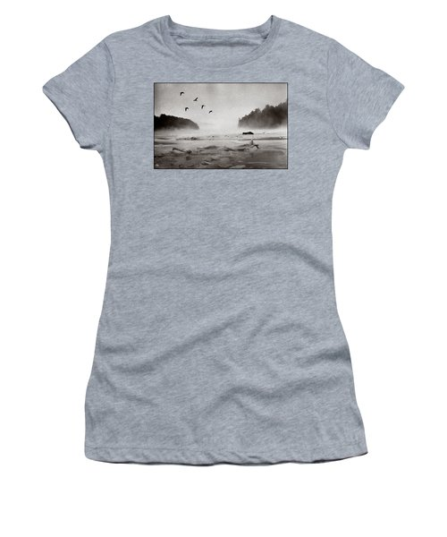 Geese Over Great Bay Women's T-Shirt (Athletic Fit)
