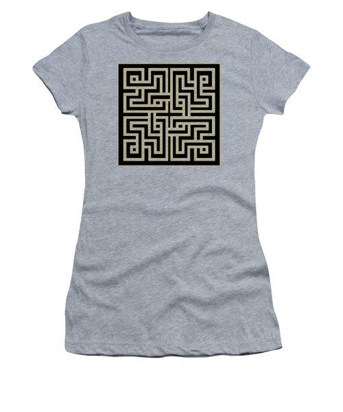 Women's T-Shirt (Junior Cut) featuring the digital art Geo Pattern 5 - Transparent by Chuck Staley