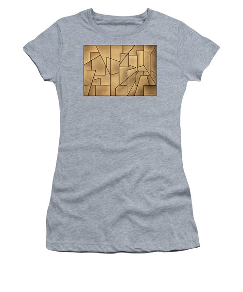 Women's T-Shirt featuring the digital art Geometric Abstraction IIi Toned by David Gordon