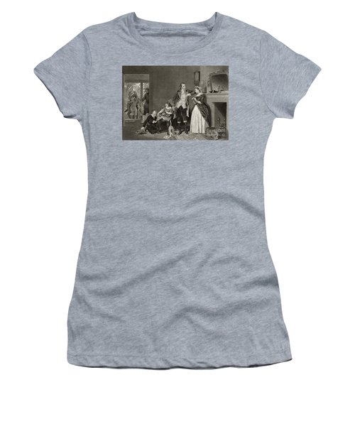 George Washington's First Interview With Mrs Martha Custis Women's T-Shirt