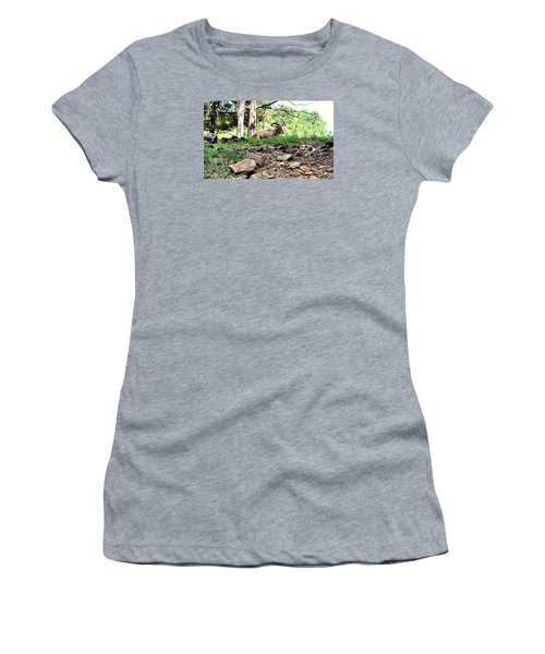 Georgia Mountain Goat At Rest Women's T-Shirt (Athletic Fit)