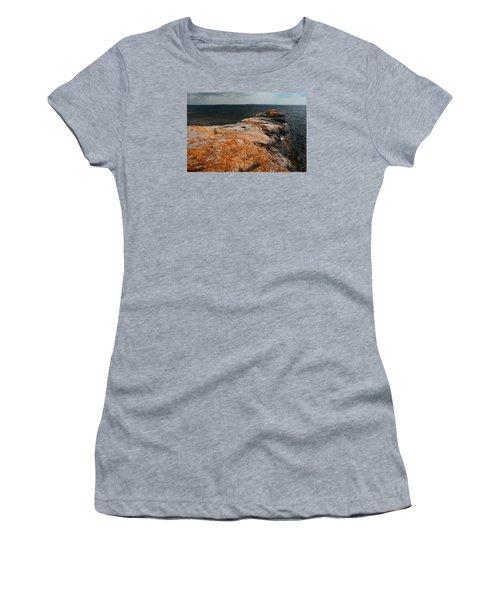 Georgian Bay Rocks Lichen-3675 Women's T-Shirt