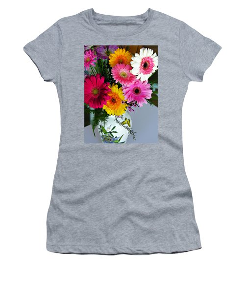 Gerbera Daisy Bouquet Women's T-Shirt (Junior Cut) by Marilyn Hunt