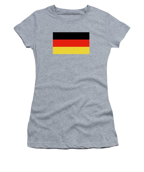 Women's T-Shirt (Junior Cut) featuring the digital art German Flag by Bruce Stanfield