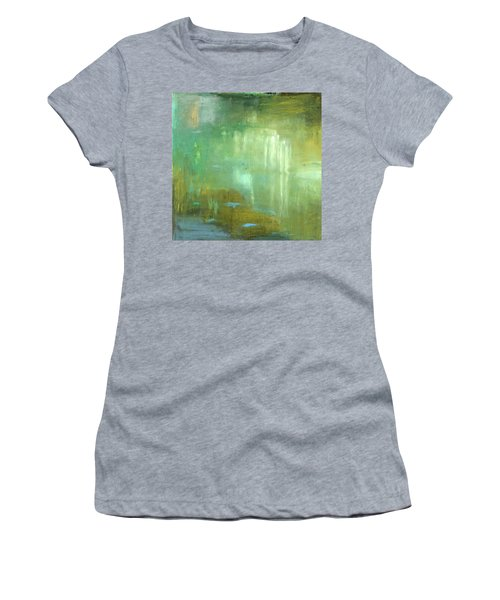 Women's T-Shirt (Junior Cut) featuring the painting Ghosts In The Water by Michal Mitak Mahgerefteh