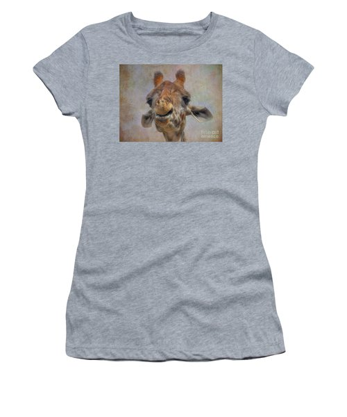 Women's T-Shirt (Junior Cut) featuring the photograph Giraffe by Savannah Gibbs