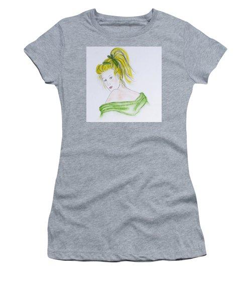 Girl In Green Women's T-Shirt