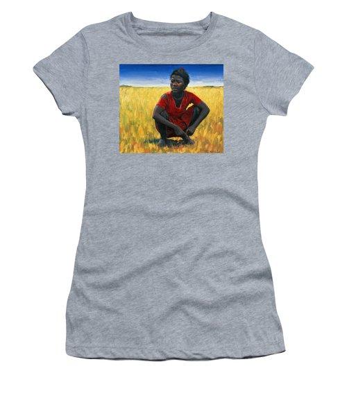 Girl In Red Women's T-Shirt