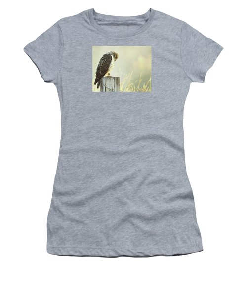Women's T-Shirt (Junior Cut) featuring the photograph Giving Thanks.. by Al  Swasey