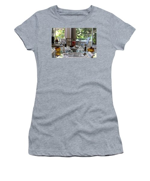 Giving Thanks In California Thanksgiving Table Women's T-Shirt (Athletic Fit)