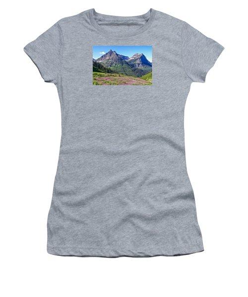 Glacier Park Bedazzeled Women's T-Shirt (Athletic Fit)