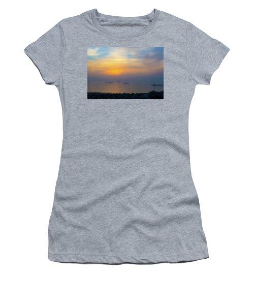 Gloucester Harbor Foggy Sunset Women's T-Shirt