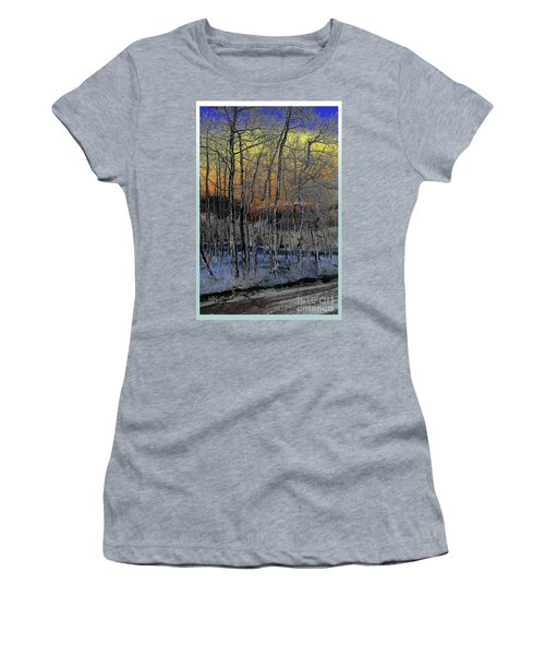Glowing Aspens At Dusk Women's T-Shirt (Athletic Fit)