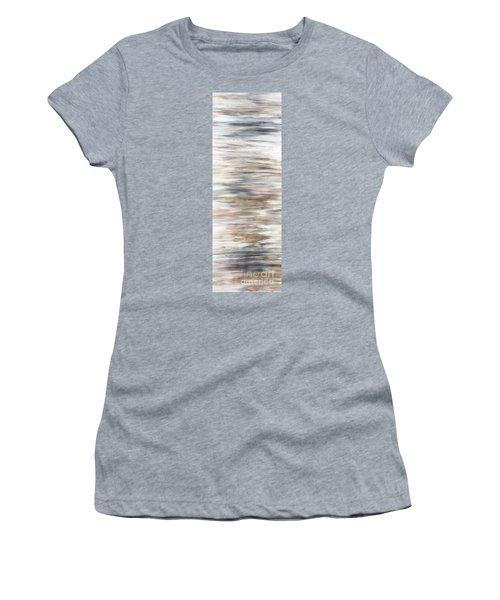 Gold Coast #20 Gold Landscape Original Fine Art Acrylic On Canvas Women's T-Shirt (Athletic Fit)