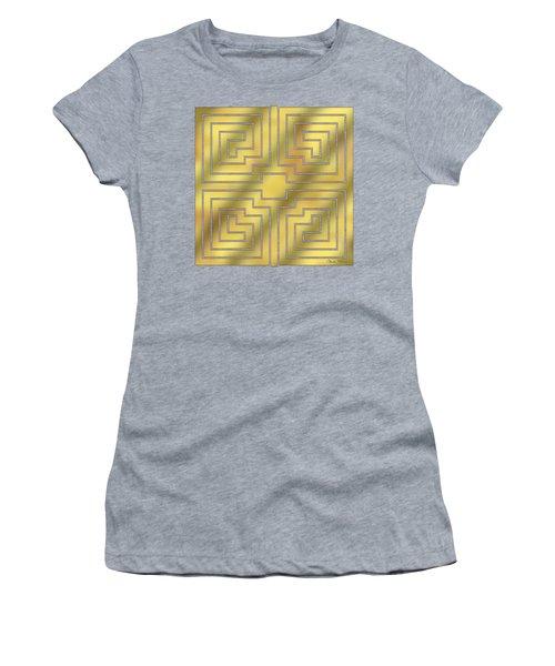 Gold Geo 4 - Chuck Staley Design  Women's T-Shirt