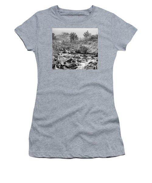 Gold Rush Mining Shack In The Alaskan Mountains Women's T-Shirt