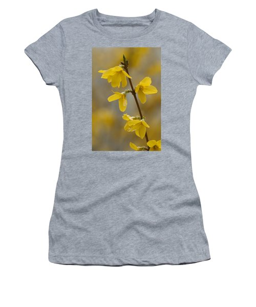 Golden Forsythia Women's T-Shirt (Athletic Fit)