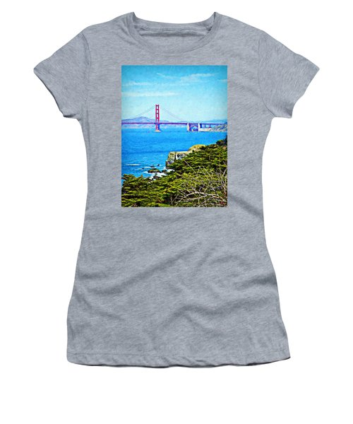 Golden Gate Bridge From The Coastal Trail Women's T-Shirt (Athletic Fit)