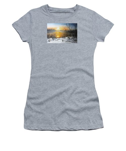 Golden Lake Sunrise  Women's T-Shirt (Athletic Fit)