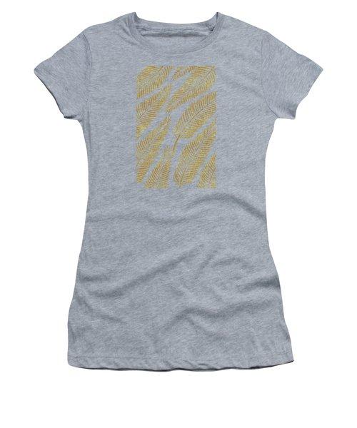 Golden Palm Women's T-Shirt (Junior Cut) by Uma Gokhale