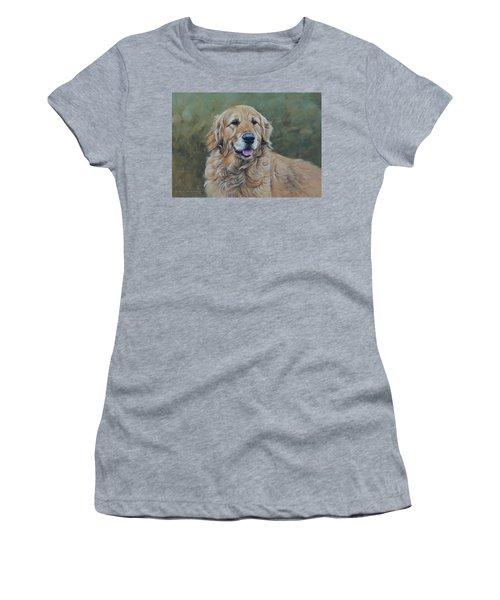Golden Retriever Portrait Women's T-Shirt