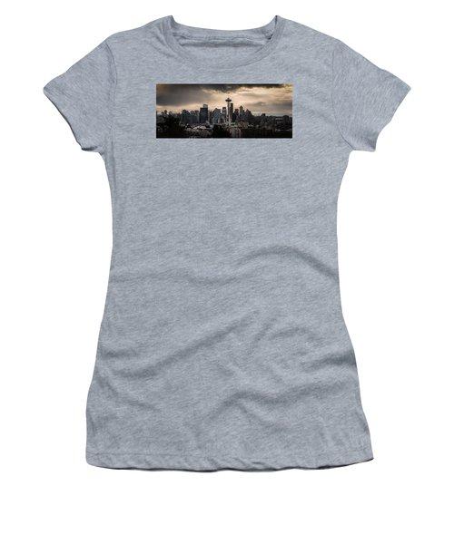 Golden Seattle Women's T-Shirt (Junior Cut) by Chris McKenna