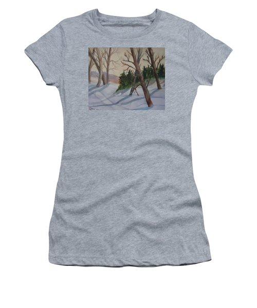 Golden Sky In The Snow Women's T-Shirt (Athletic Fit)
