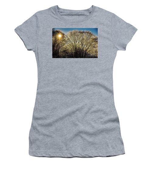 Women's T-Shirt (Junior Cut) featuring the photograph Golden Snow by Tatsuya Atarashi