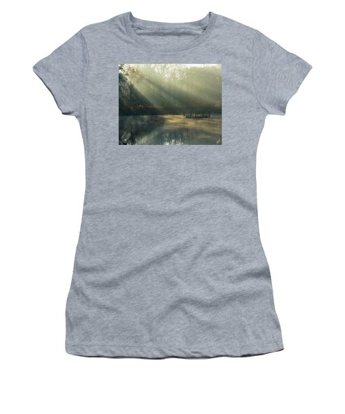 Golden Sun Rays Women's T-Shirt (Junior Cut) by George Randy Bass