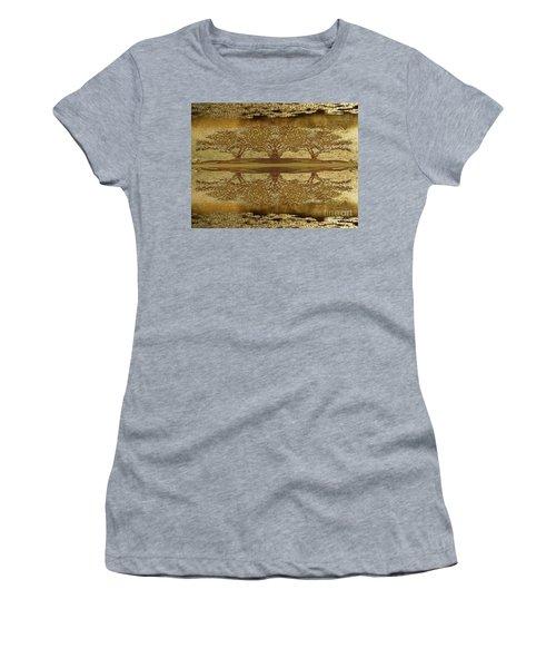 Golden Trees Reflection Women's T-Shirt