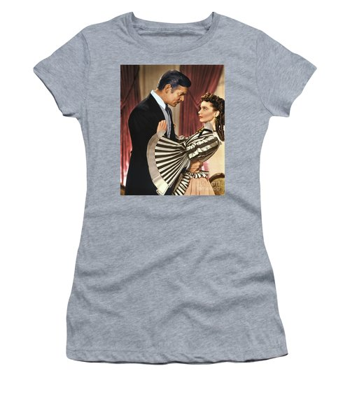 Gone With The Wind - 1939 - Completely Retouched In Color Women's T-Shirt