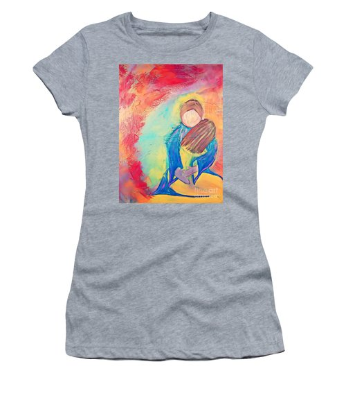 Women's T-Shirt featuring the painting Loved by Jessica Eli