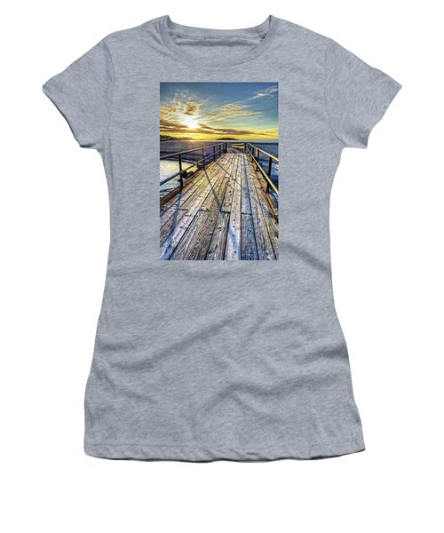 Good Harbor Beach Footbridge Shadows Women's T-Shirt