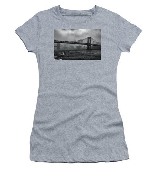 Manhattan Bridge In A Storm Women's T-Shirt