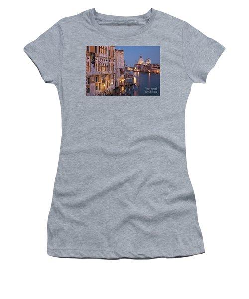 Women's T-Shirt (Junior Cut) featuring the photograph Grand Canal Twilight by Brian Jannsen