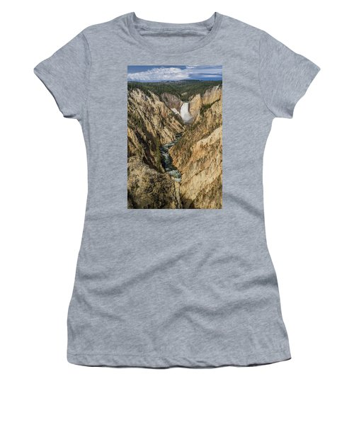 Grand Canyon Of The Yellowstone And Yellowstone Falls Women's T-Shirt (Athletic Fit)
