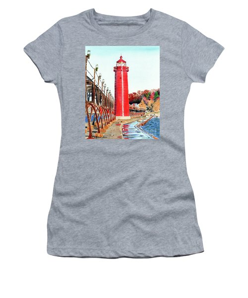 Grand Haven Autumn Women's T-Shirt (Junior Cut) by LeAnne Sowa