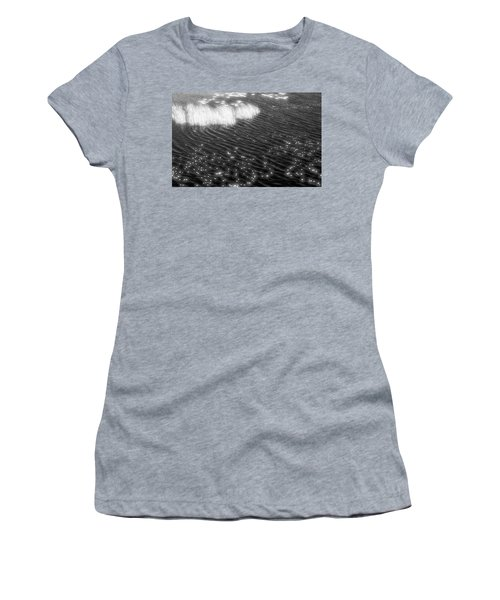 Grass And Water And Lilly Pads Bw2  Women's T-Shirt (Junior Cut) by Lyle Crump